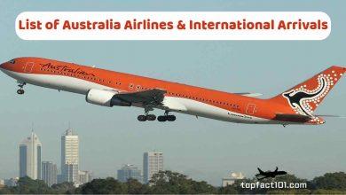 List of Australia Airlines & International Arrivals